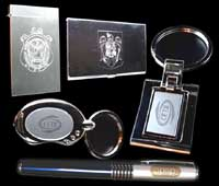 Metalic promotional items engraving